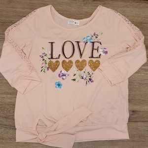 Beautees Girls Lace Sleeve Blouse